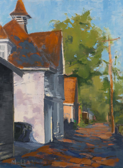 Carriage House - $700 - 12 x 16 Oil on Linen