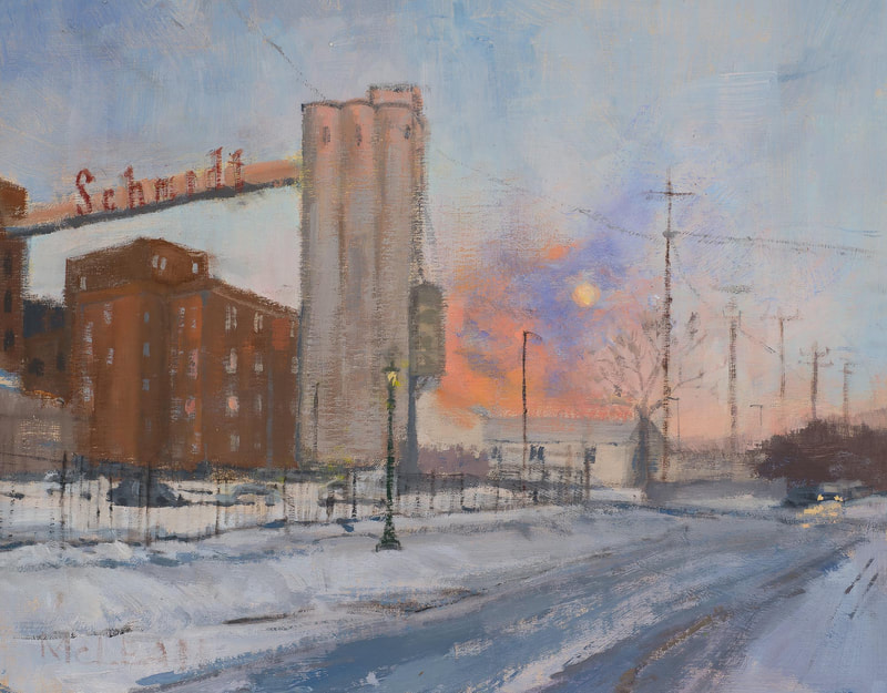 Dusk at the Brewery 11x14 - Oil on Linen