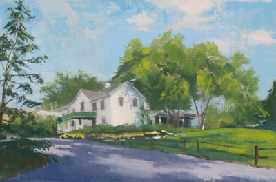 Club House - SOLD - $400 - 8 x 12 Oil on Linen
