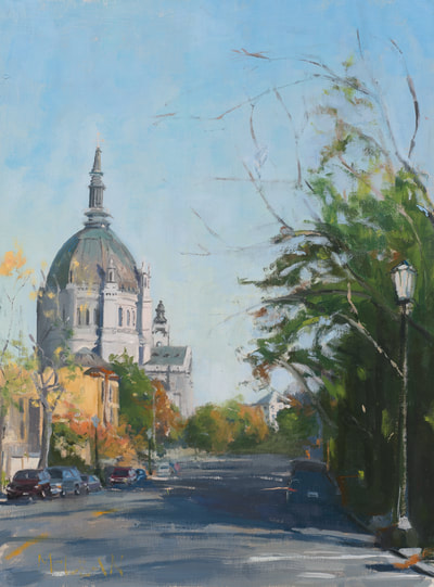 Cathedral Looking East - SOLD - $600 - 12 x 16 Oil on Linen