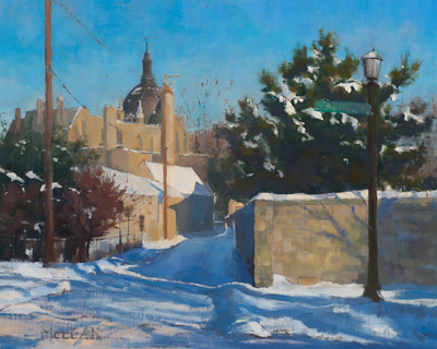 Winter on Cathedral Hill - $700 - 16 x 20 Oil on Linen